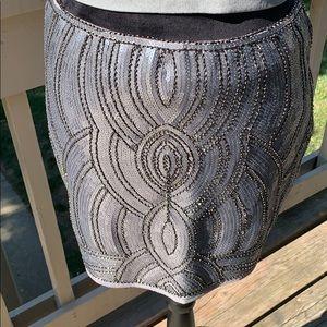 Gianni Binni metallic embellished skirt